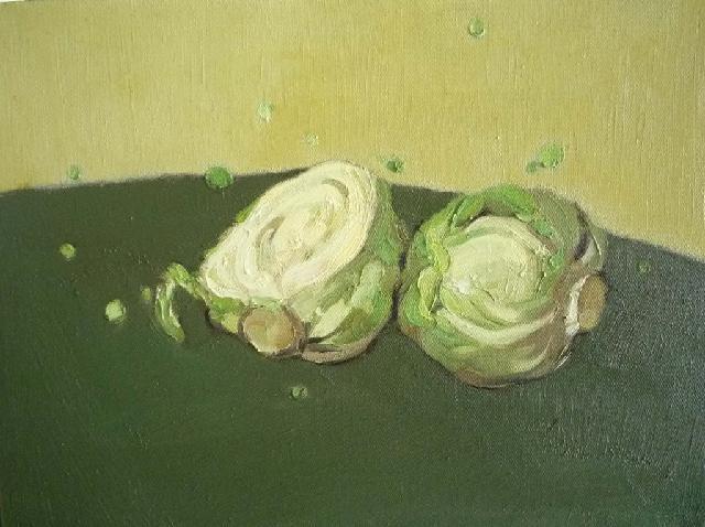 蔬果系列之---卷心菜 任敏 画布油彩