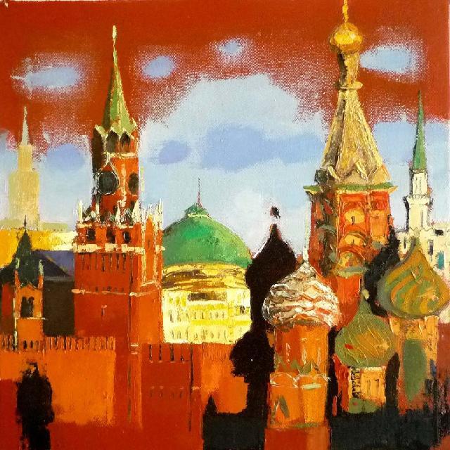 俄罗斯小风景一 任敏 画布油彩