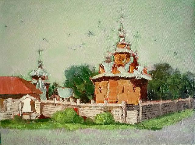 俄罗斯小风景十 任敏 画布油彩
