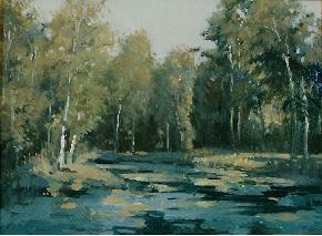 列宾故居的池塘
