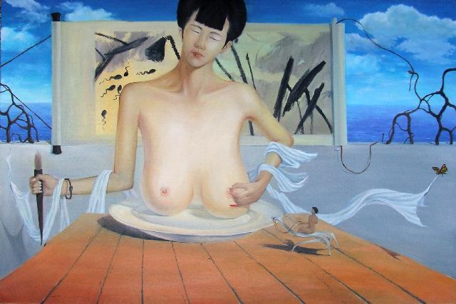 哺育 邓京焱 油画