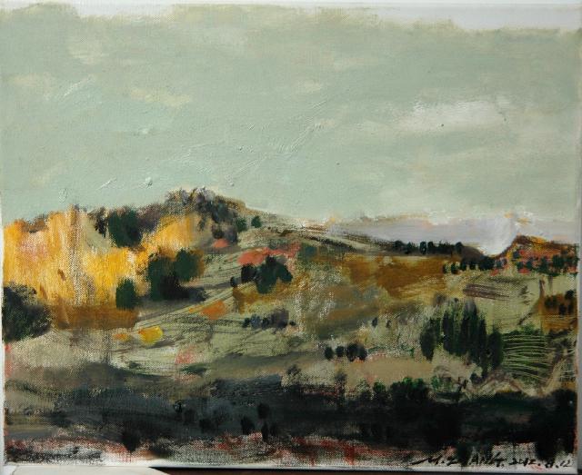 2012意大利风景之一 张民 布面油画