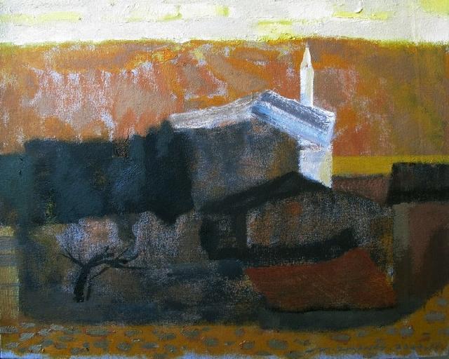 2012意大利风景之二 张民 布面油画