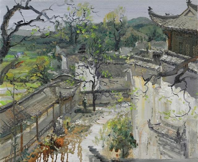 园林之二 路永泽 布面油画